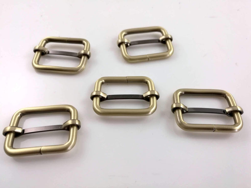 1 inch (inner) - Antique Brass Rectangle Slider for Adjustable Straps - 10 Pieces | SUPPLY4BAG