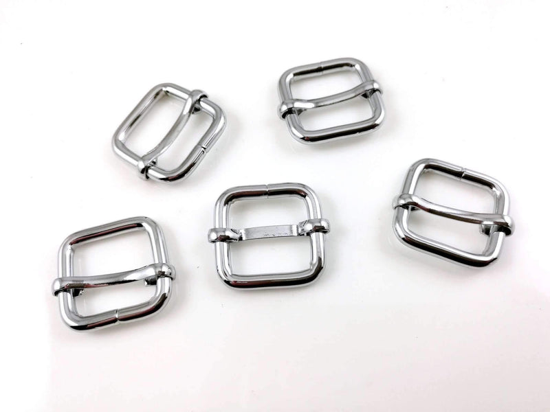 3/4 inch (inner) - Nickel Rectangle Slider for Adjustable Straps - 10 Pieces | SUPPLY4BAG