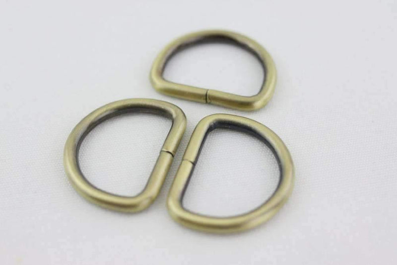 1 1/4 inch (inner) -  Antique Brass Plated D Rings - 10 pieces | SUPPLY4BAG