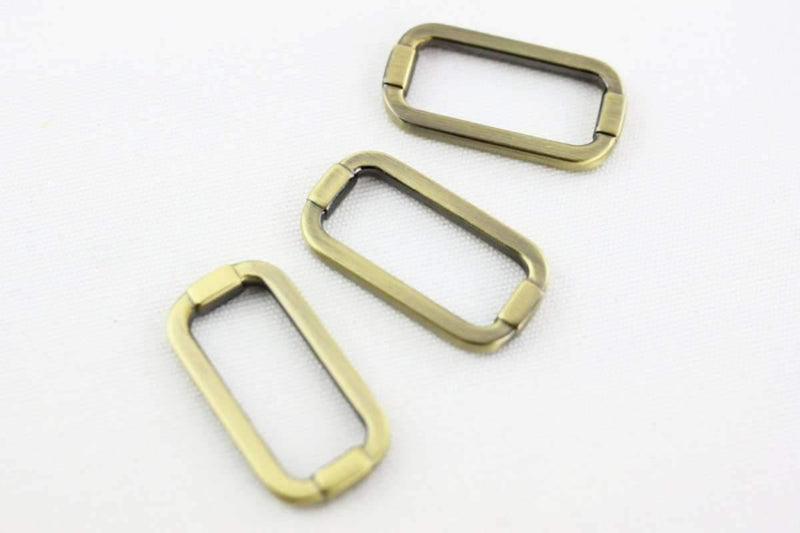 1 1/4 inch (inner) - Antique Brass Rectangle Ring - 10 Pieces | SUPPLY4BAG