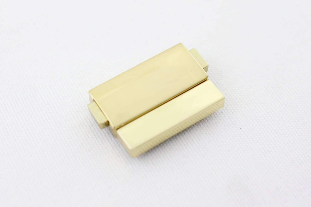 1 1/4 x 1 inch - Shiny Gold Handbag Clasp Lock / Press Lock / Handbag Lock - 3 Pieces | SUPPLY4BAG
