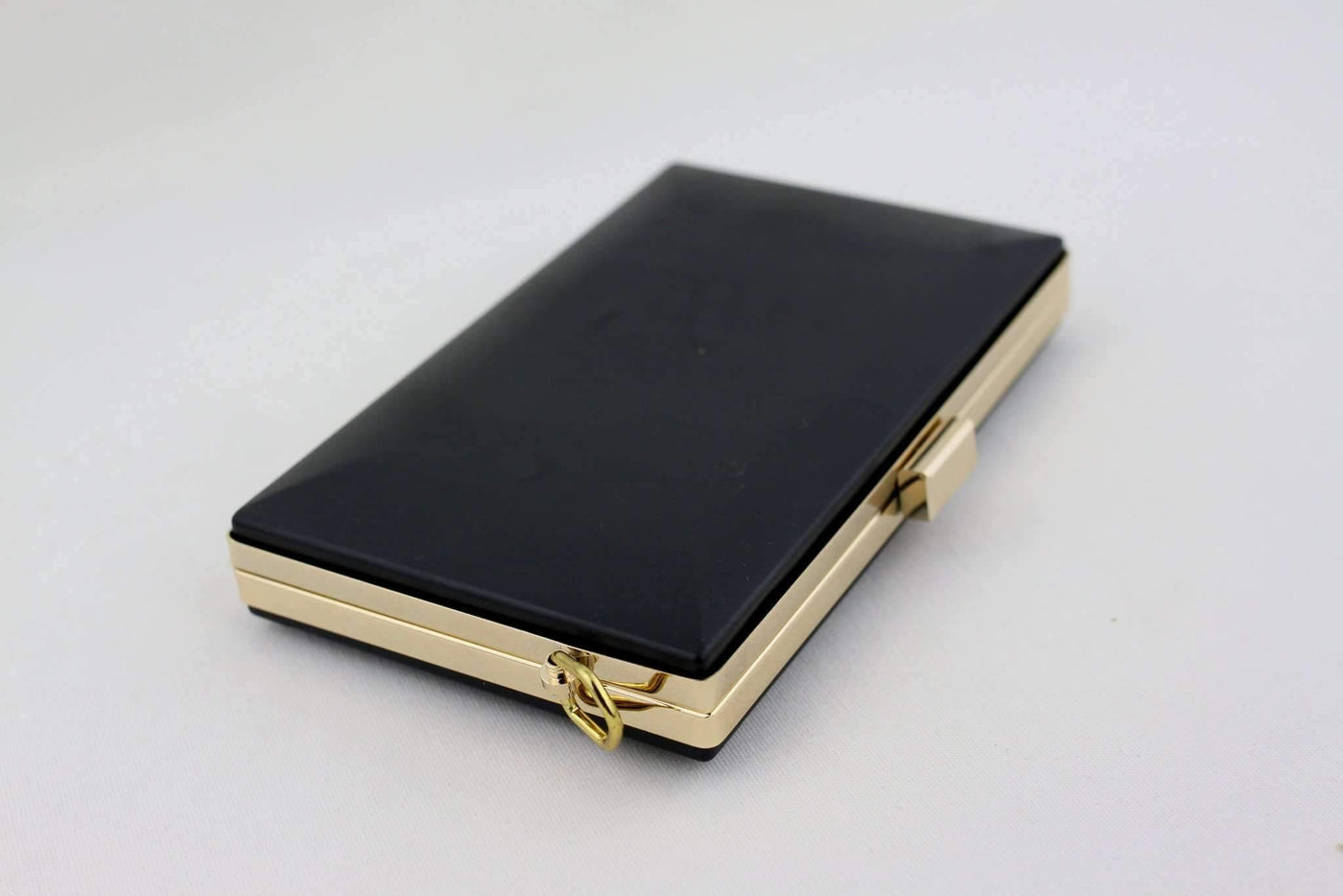8 Inch Gold Rectangle Minaudiere Clamshell Clutch Frame Supply4bag