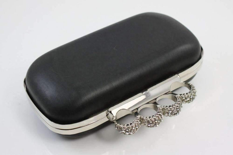 7 1/4 x 3 3/4 inch - Knuckle Duster - Silver Clutch Box Frame with Covers | SUPPLY4BAG