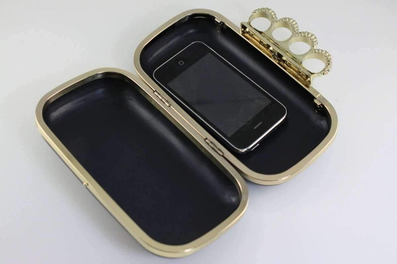 7 1/4 x 3 3/4 inch - Knuckle Duster - Golden Clutch Box Frame with Covers | SUPPLY4BAG