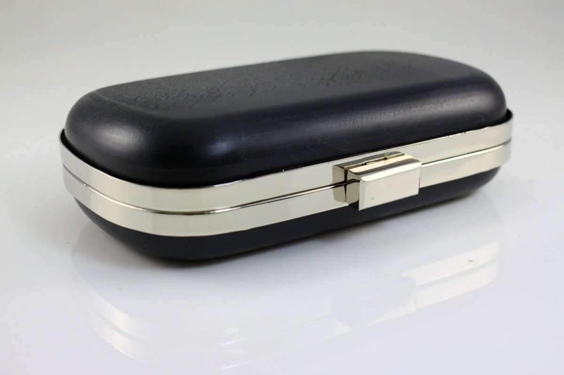 6.5 x 3 3/4 inch - Silver Rounded Edge Shape Minaudière Clutch Frame | SUPPLY4BAG