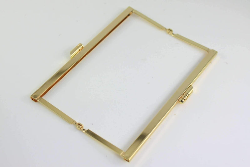 6 3/4 x 2.5 inch - Modern - Golden Open Channel Purse Frame | SUPPLY4BAG