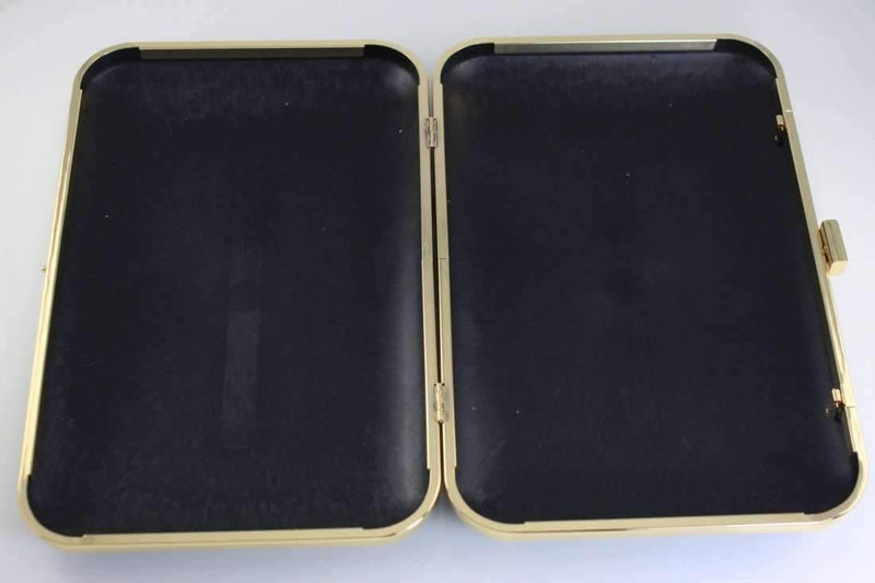 11 x 7 inch - Super Large Golden Clamshell Clutch Box Frame | SUPPLY4BAG