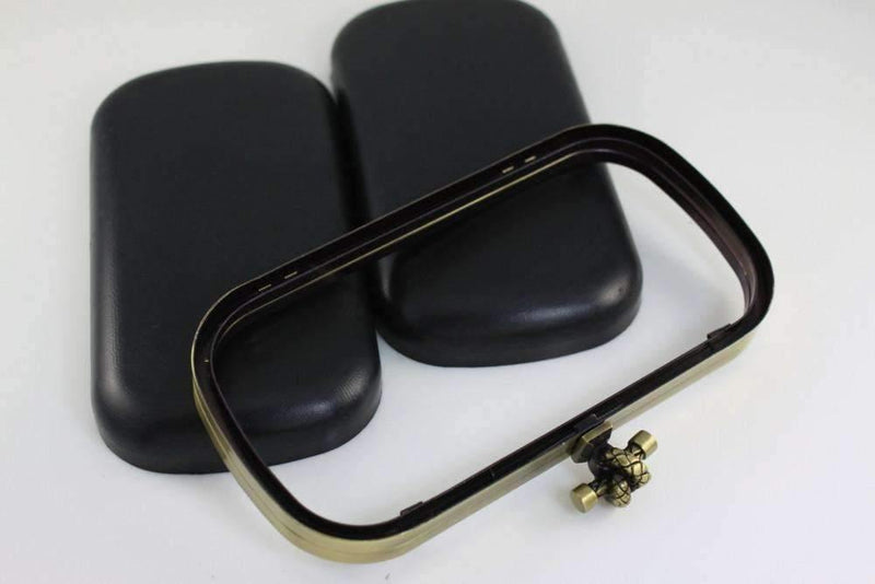 7 1/4 x 3 3/4 inch - Knot Closure - Antique Brass Clutch Box Frame with Covers | SUPPLY4BAG