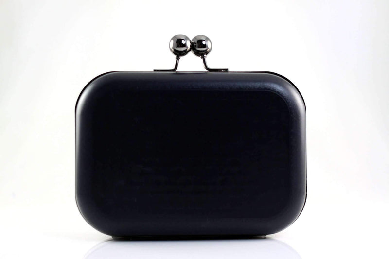 6 x 4.5 inch - Ball Closure - Gunmetal Minaudière Metal Clutch Frame | SUPPLY4BAG