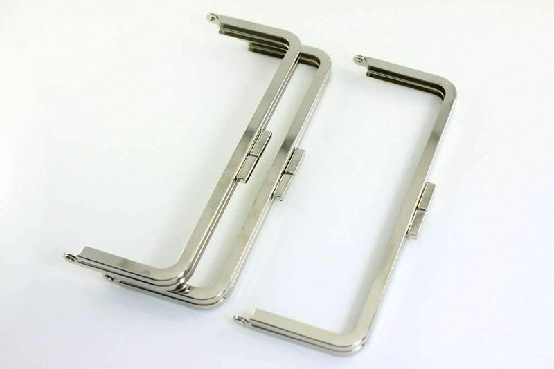 8 1/4 x 3 inch - Little Flat - Silver Metal Purse Frame | SUPPLY4BAG