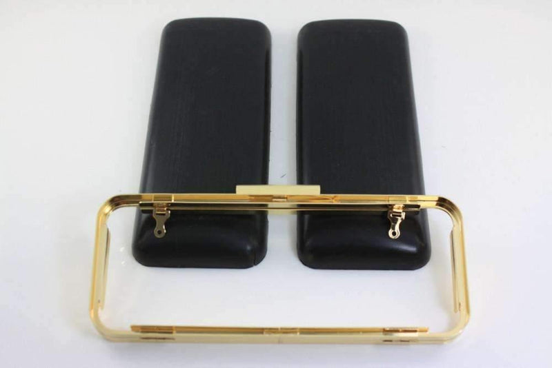 8 1/2 x 3 3/8 inch - Golden Rectangle Metal Clutch Box Frame with Covers | SUPPLY4BAG