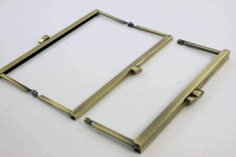 6 3/4 x 2.5 inch - Flat - Antique Brass Open Channel Purse Frame | SUPPLY4BAG