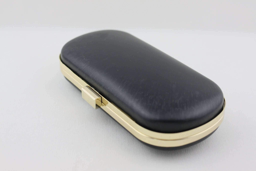 8 1/8 x 4 inch - Square Closure - Golden Rounded Edge Minaudière Purse Frame | SUPPLY4BAG