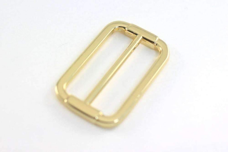 1.5 inch (inner) - Gold Rectangle Slider for Adjustable Straps - 10 Pieces | SUPPLY4BAG