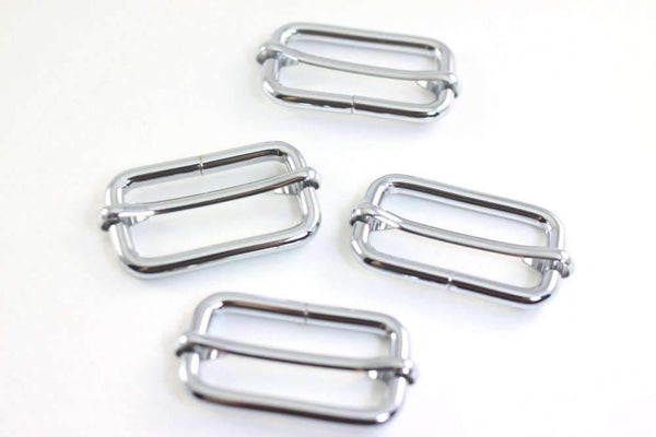1.5 inch (inner) - Nickel Rectangle Slider for Bags Making - 10 Pieces | SUPPLY4BAG
