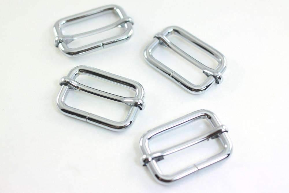 1 1/4 inch (inner) - Nickel Rectangle Slider for Adjustable Straps - 10 Pieces | SUPPLY4BAG