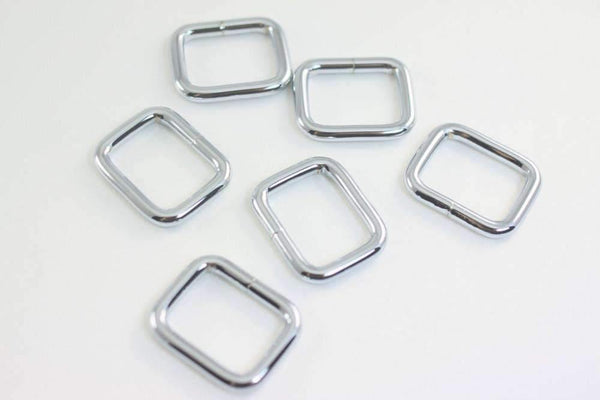 1 inch (inner) - Nickel Rectangle Ring - 10 Pieces | SUPPLY4BAG