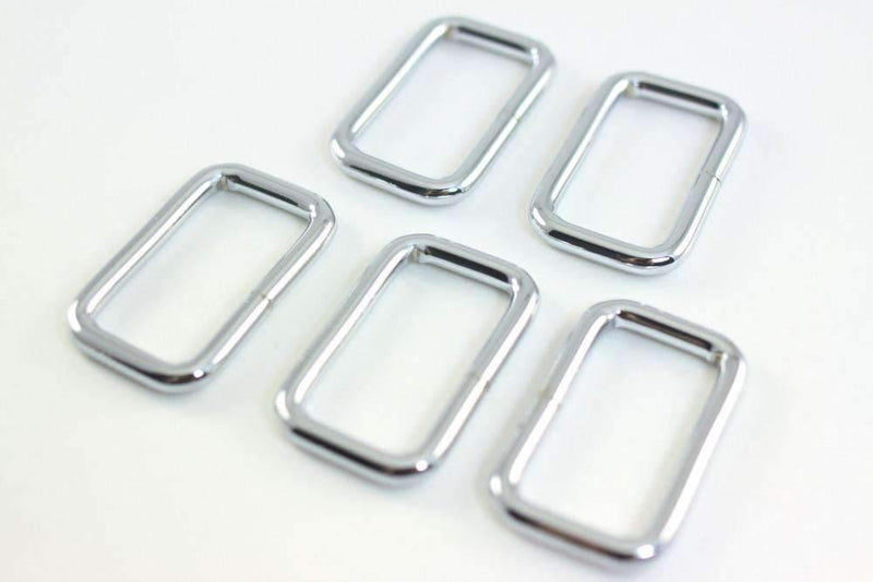 1.5 inch (inner) - Nickel Rectangle Ring - 10 Pieces | SUPPLY4BAG