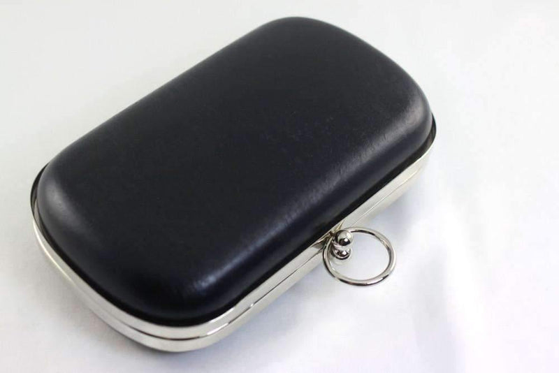 6.5 x 3 3/4 inch - O Ring - Silver Rounded Edge Shape Minaudière Clutch Frame | SUPPLY4BAG