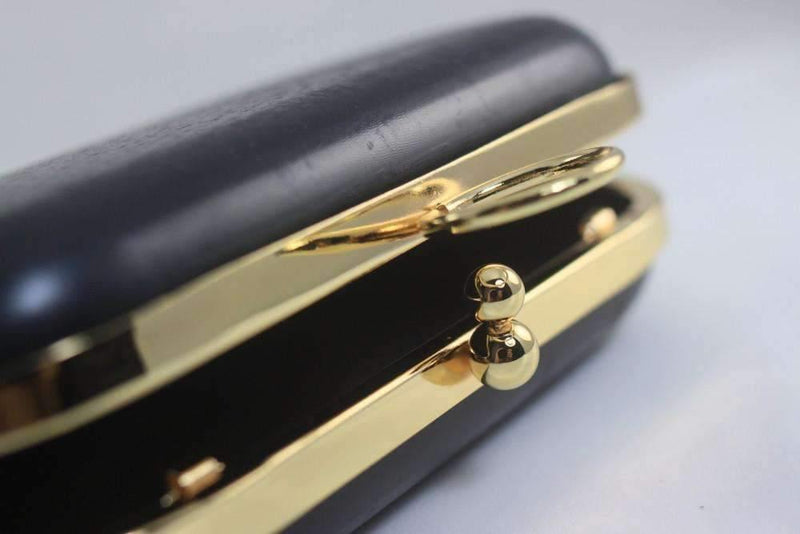 6.5 x 3 3/4 inch - O Ring - Gold Rounded Edge Shape Minaudière Clutch Frame | SUPPLY4BAG
