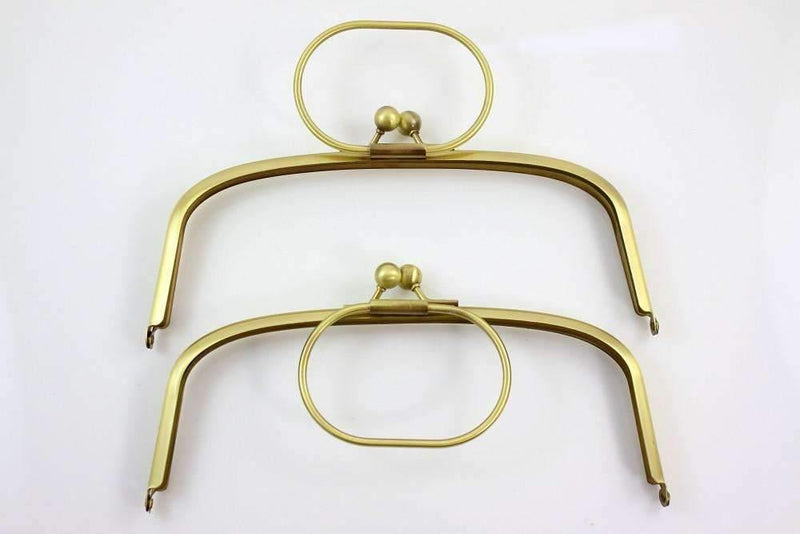 8 x 3 inch - Ball Closure - Arch Shape Antique Brass Clutch Frame with Handle | SUPPLY4BAG