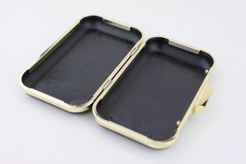 7 3/4 x 4.5 inch - Trapezoid Closure - Gold Rectangle Box Clutch Frame | SUPPLY4BAG