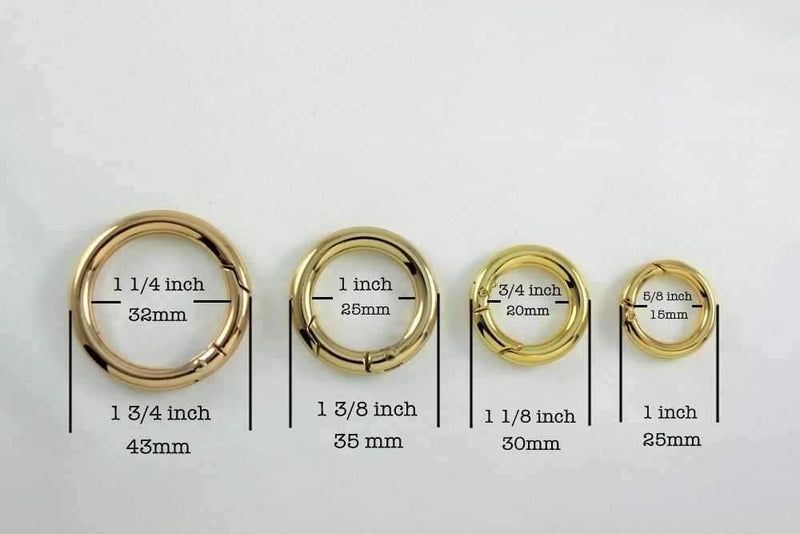 5/8 inch(inner) - Golden Spring Gate O Rings - 10 pieces | SUPPLY4BAG