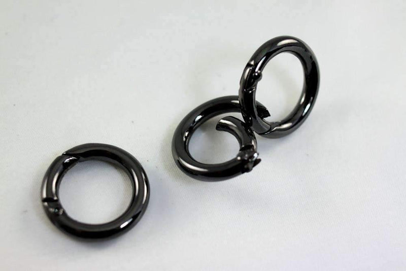 5/8 inch(inner) - Gunmetal Spring Gate O Rings - 10 pieces | SUPPLY4BAG