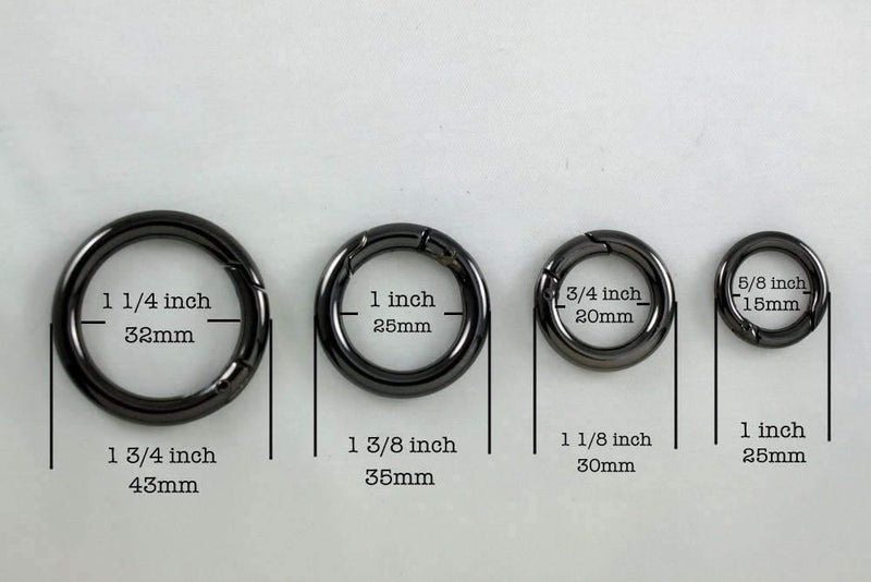 3/4 inch(inner) - Gunmetal Spring Gate O Rings - 10 pieces | SUPPLY4BAG