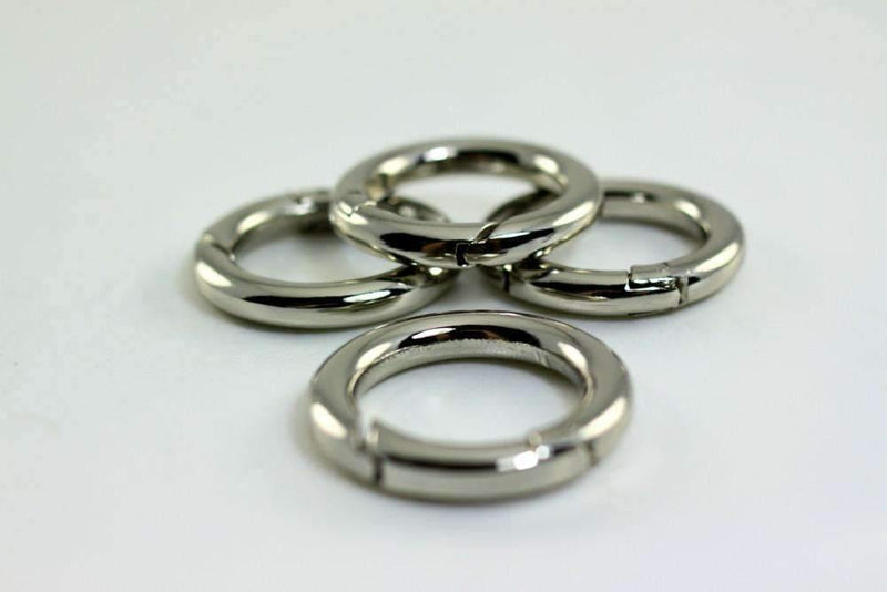1 inch(inner) - Silver Spring Gate O Rings - 10 pieces | SUPPLY4BAG