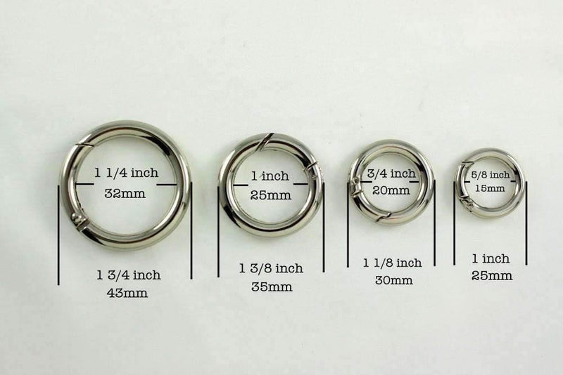 1 1/4 inch(inner) - Silver Spring Gate O Rings - 10 pieces | SUPPLY4BAG