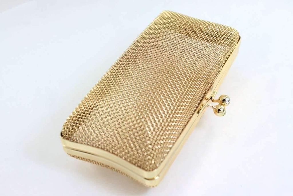 7 x 3.5 inch - Ball Clasp - Golden Net Clutch Frame | SUPPLY4BAG