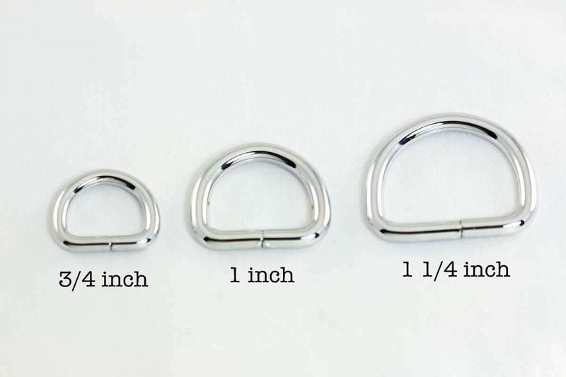 1 1/4 inch (inner) - Nickel Plated D Rings - 10 pieces | SUPPLY4BAG