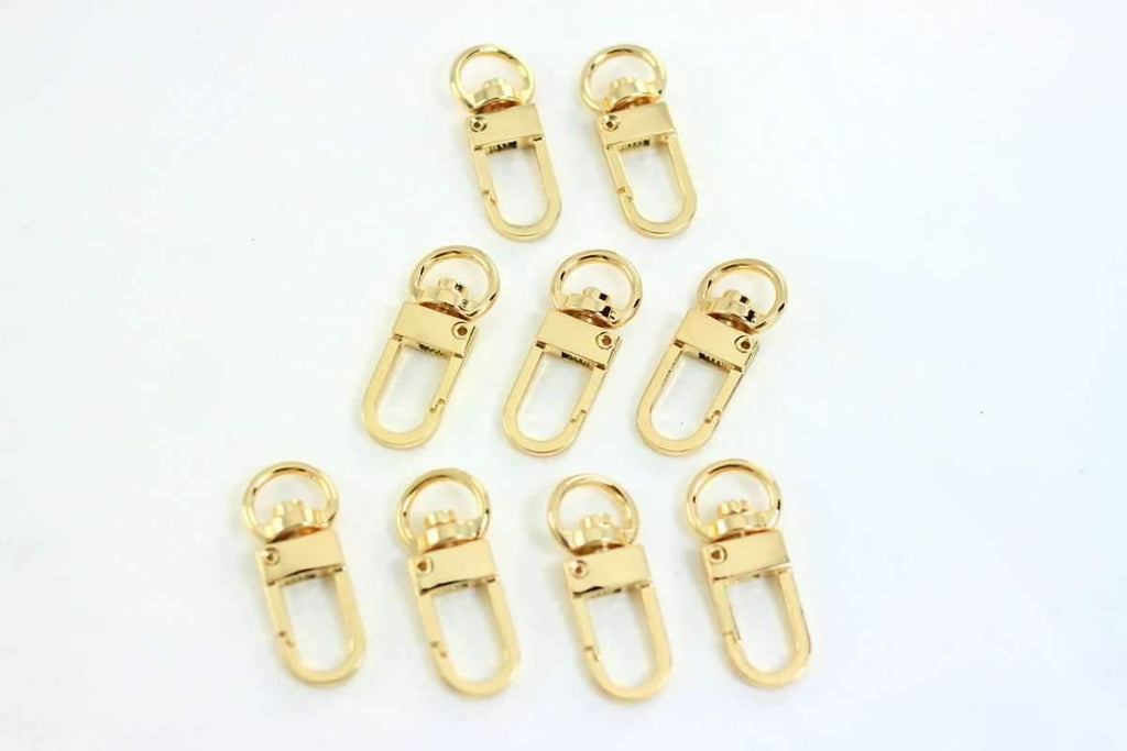 Golden Small Swivel Hooks - 3/8 inch (inner) - 20 Pieces | SUPPLY4BAG