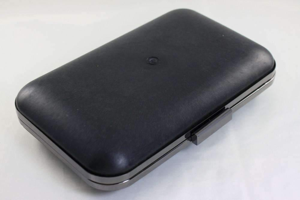10 x 6 1/4 inch - Large GunMetal Rectangle Dressing Case with Covers | SUPPLY4BAG