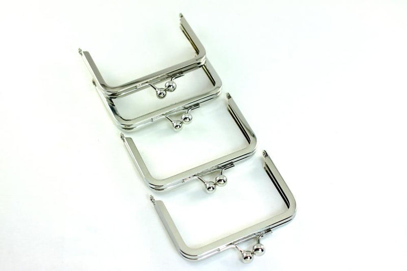 3 3/4 x 2.5 inch - Ball Closure - Silver Coin Purse Frame | SUPPLY4BAG