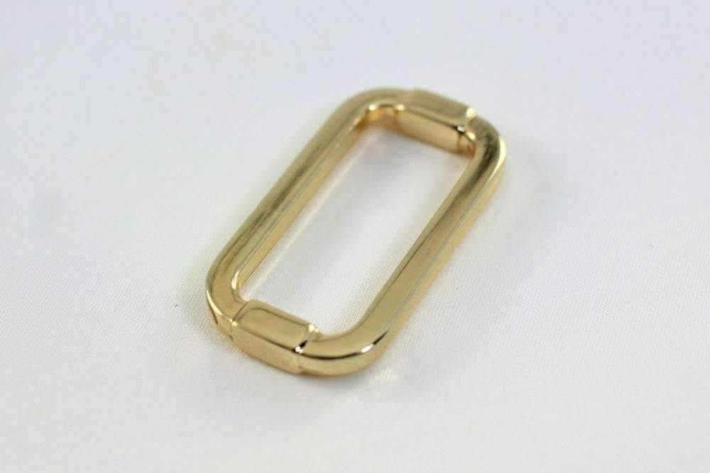 1 1/4 inch (inner) - Golden Rectangle Ring - 10 Pieces | SUPPLY4BAG