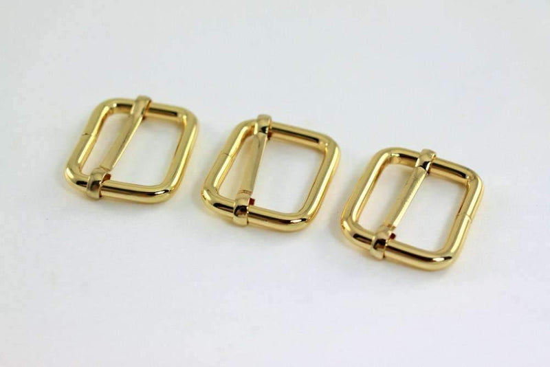 1 inch (inner) - Gold Rectangle Slider for Adjustable Straps - 10 Pieces | SUPPLY4BAG