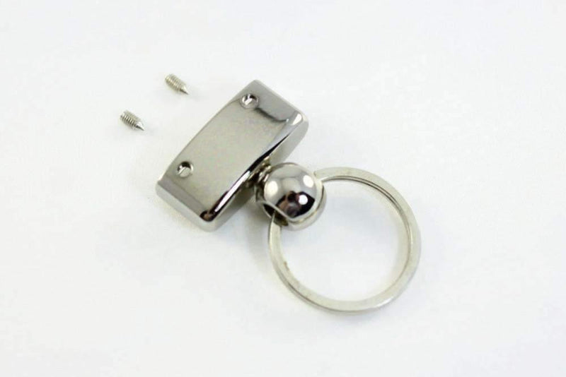 30 x 6 mm - Silver Key Fob Hardware Sets  (Type D) - 20 Sets | SUPPLY4BAG