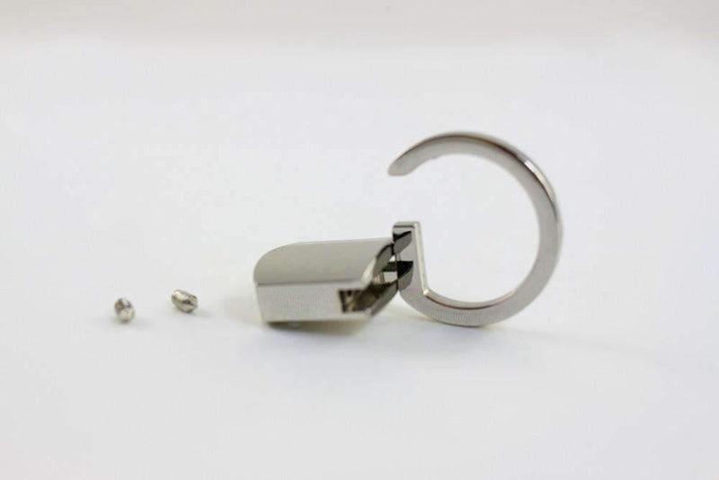 18 x 4 mm - Silver Key Fob Hardware Sets  (Type A) - 20 Sets | SUPPLY4BAG