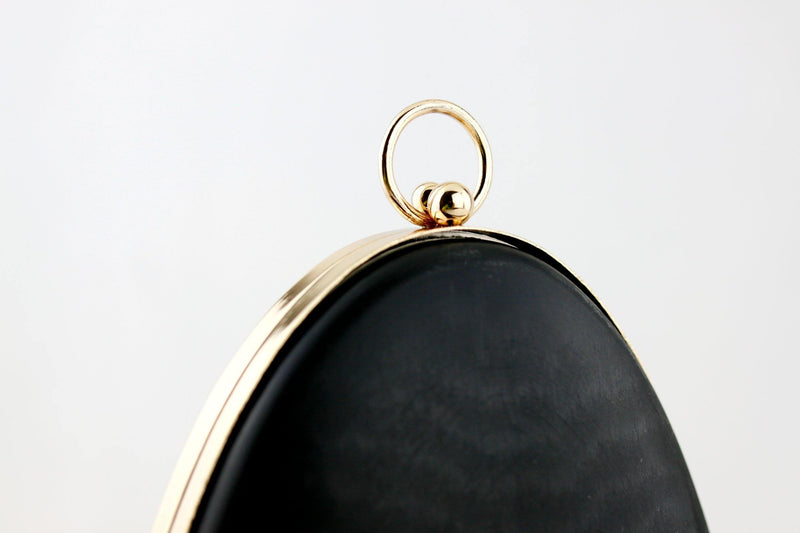 7 x 6 inch - O Ring - Pear Shaped Gold Box Clutch Frame | SUPPLY4BAG