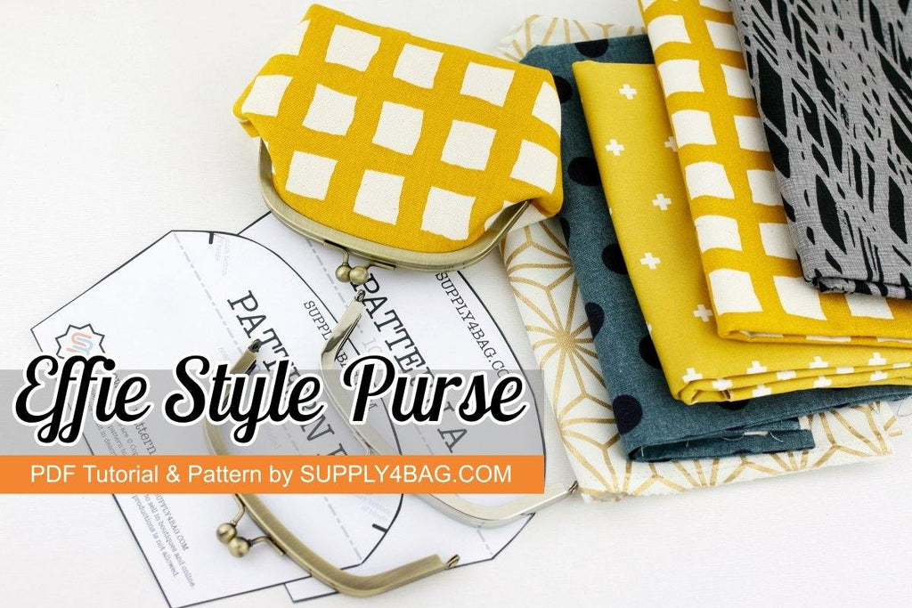 Effie Style Arch Shape Frame Purse Making Tutorial & PDF Pattern | SUPPLY4BAG