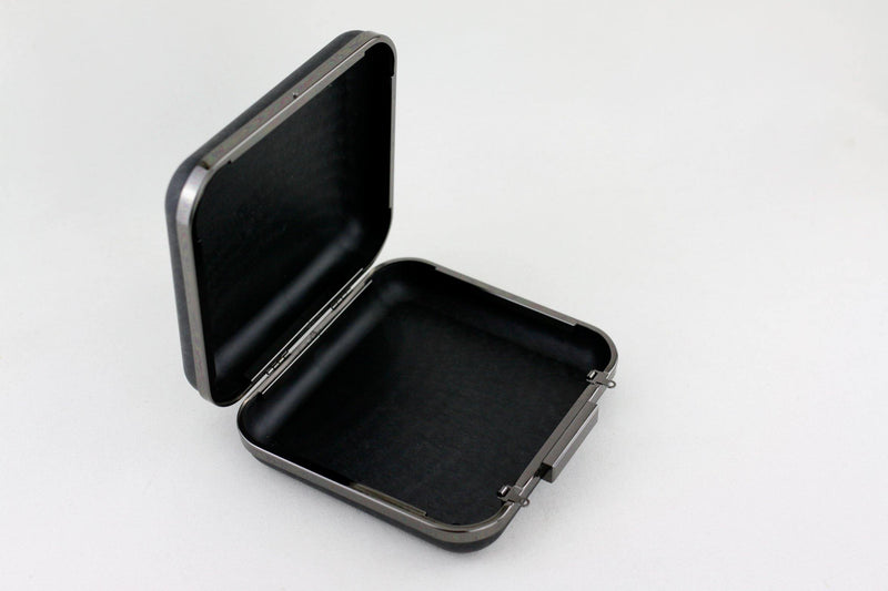 6.5 x 6 inch - Square Closure - Gunmetal Box Clutch Frame | SUPPLY4BAG