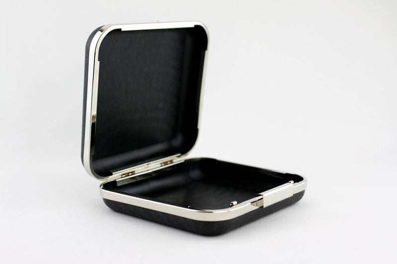 6.5 x 6 inch - Square Closure - Silver Box Clutch Frame | SUPPLY4BAG