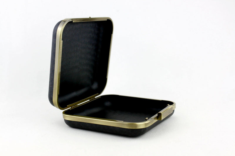6.5 x 6 inch - Square Closure - Antique Brass Box Clutch Frame | SUPPLY4BAG