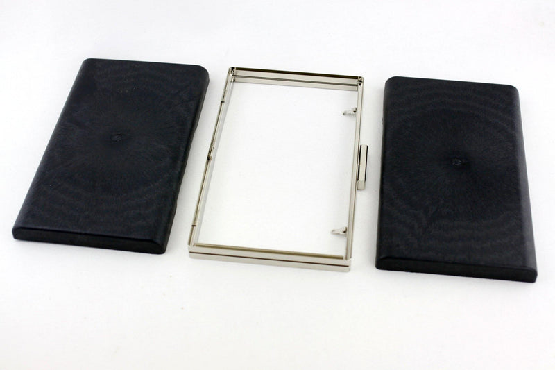 9 7/8 x 5 7/8 inch - 2 inch Closure - Large Silver Rectangle Dressing Case with Covers | SUPPLY4BAG