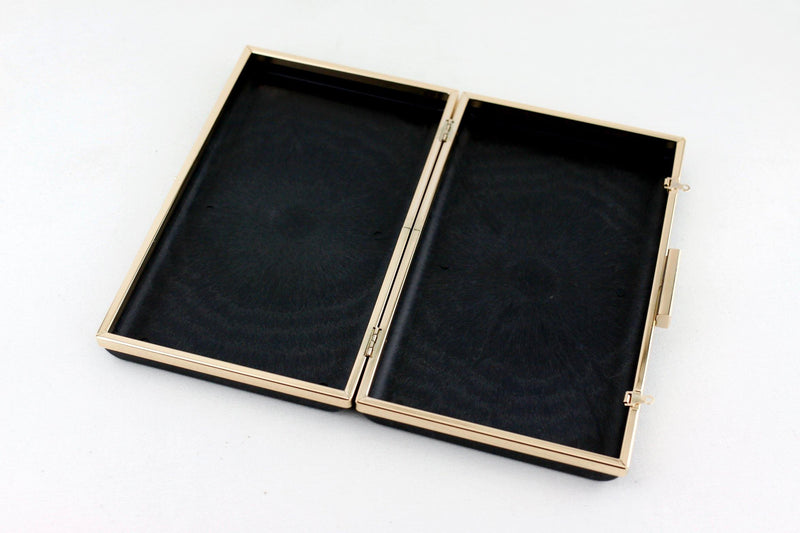 9 7/8 x 5 7/8 inch - 2 inch Closure - Large Gold Rectangle Dressing Case with Covers | SUPPLY4BAG