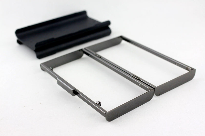 8 x 4 inch - 2 inch Closure - Gunmetal Curve Edge Rectangle Metal Box Clutch Frame | SUPPLY4BAG