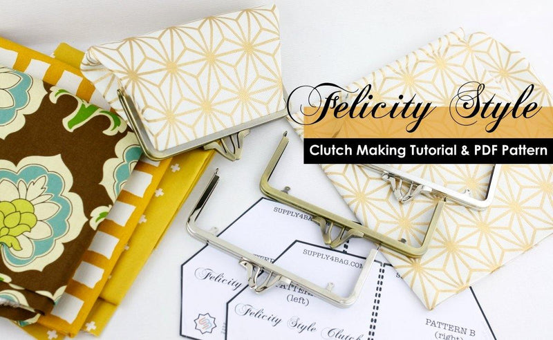 Felicity Frame Clutch Making Tutorial & PDF Pattern | SUPPLY4BAG