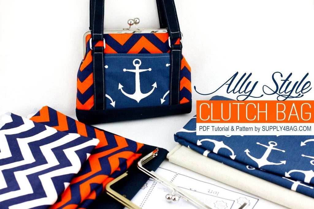 Ally Style Frame Clutch Bag Making Tutorial & PDF Pattern | SUPPLY4BAG